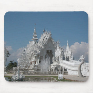 White Temple Thailand Mouse Pad