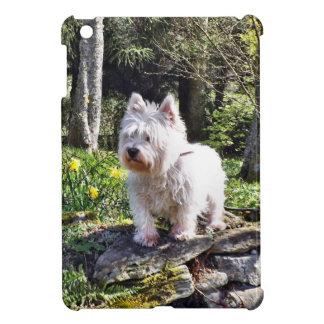 White Terrier Nature Walk iPad Mini Case