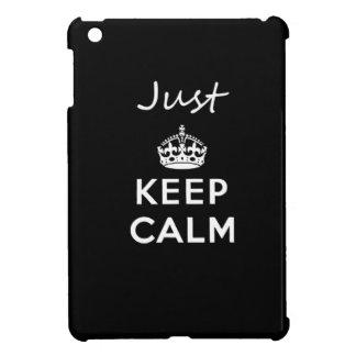 White Text Just Keep Calm iPad Mini Cover