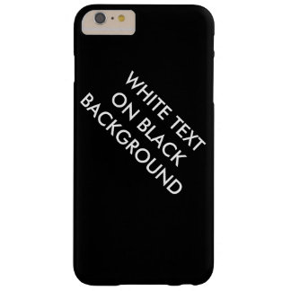 White text on black background case