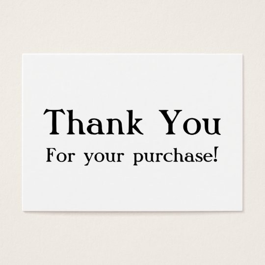 thank you for your purchase cards
