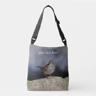 White-throated sparrow crossbody bag