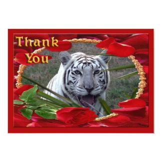 white-tiger-00069-TKU Carton D'invitation 12,7 Cm X 17,78 Cm