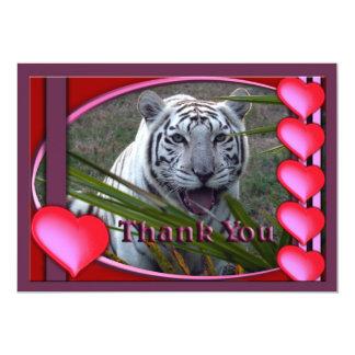 white-tiger-00098-TKU Carton D'invitation 12,7 Cm X 17,78 Cm