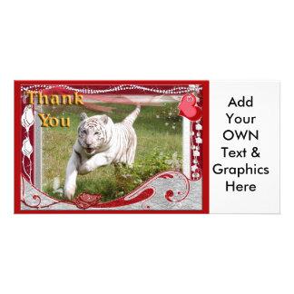 white-tiger-00101-TKU Photo Card Template