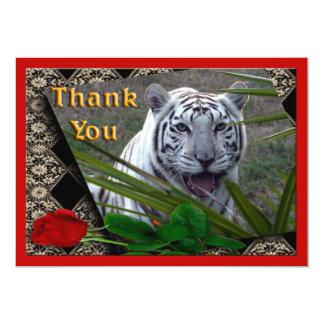 white-tiger-00106-TKU Carton D'invitation 12,7 Cm X 17,78 Cm