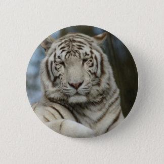 White Tiger 2 Inch Round Button