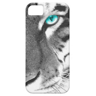 White Tiger aqua eye iPhone 5 Case
