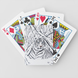 White Tiger (Bicycle Brand) Bicycle Playing Cards