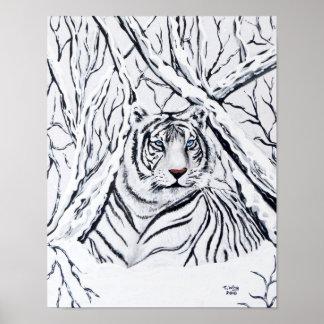 White Tiger Blending In Poster