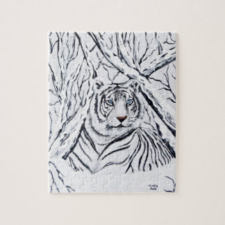 White Tiger Blending In Puzzle