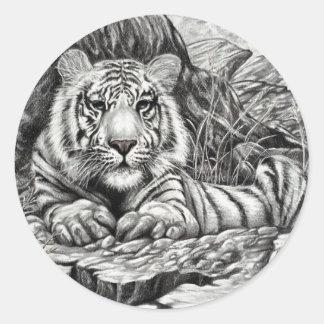 WHITE TIGER   by Diana S Martin Classic Round Sticker