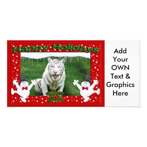 White Tiger-c-139 copy Customized Photo Card