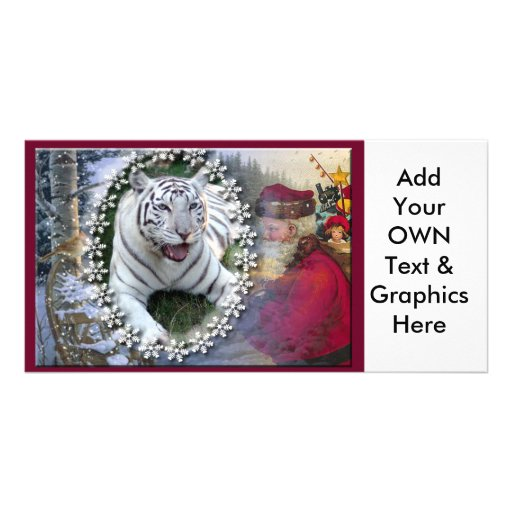 White Tiger-c-24 copy Customized Photo Card