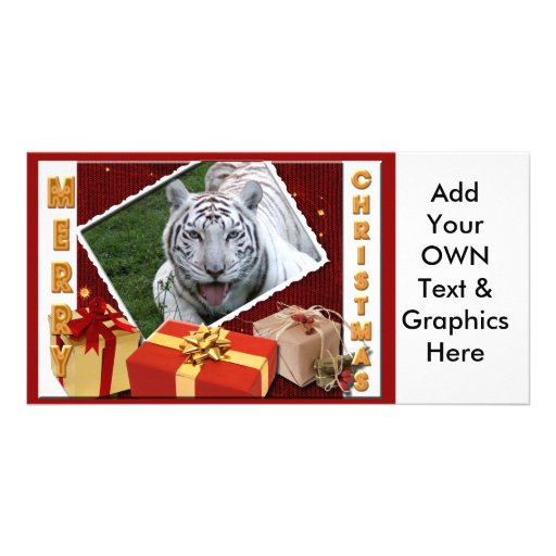 White Tiger-c-65 copy Personalized Photo Card