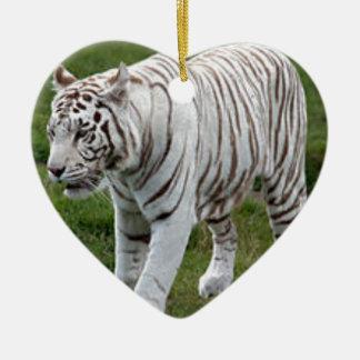 White Tiger Ceramic Ornament