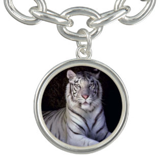 White Tiger Charm Bracelet