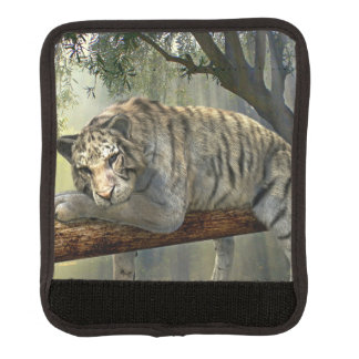 White tiger chilling in the jungle luggage handle wrap