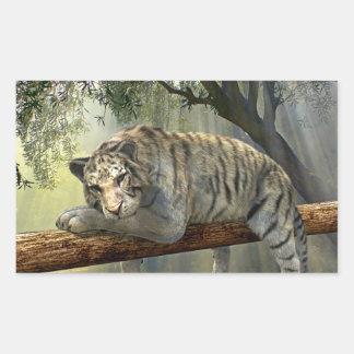 White tiger chilling in the jungle sticker