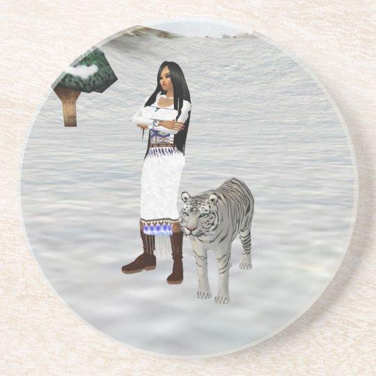 White Tiger Coaster