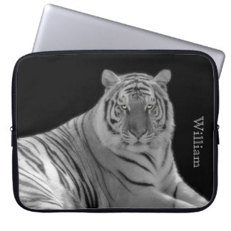 White Tiger Custom Laptop Case