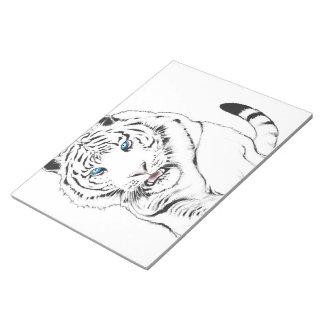 White Tiger Drawing Notepad