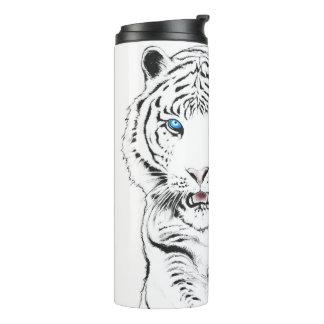 White Tiger Drawing Thermal Tumbler