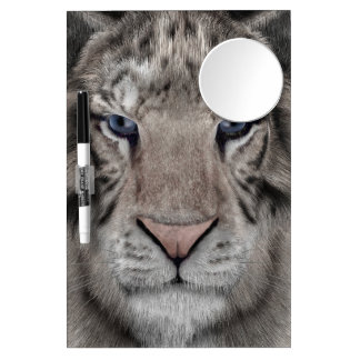 White Tiger Dry Erase Board With Mirror