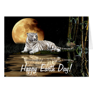 WHITE TIGER Earth Day Endangered Species Card