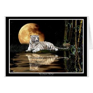 WHITE TIGER Endangered Species Series Greeting Card