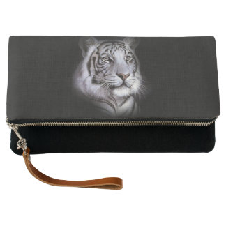 White Tiger Face Clutch
