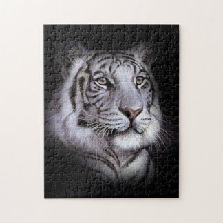 White Tiger Face Jigsaw Puzzle