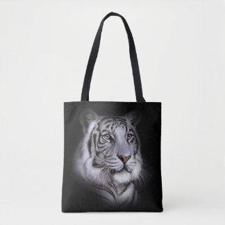 White Tiger Face Tote Bag