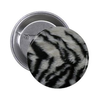White Tiger Fur 2 Inch Round Button