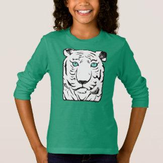 White Tiger Girls' Long Sleeve T-Shirt