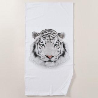 White Tiger Head Beach Towel