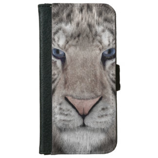 white_tiger_head iPhone 6 wallet case
