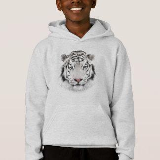 White Tiger Head Light Hoodie