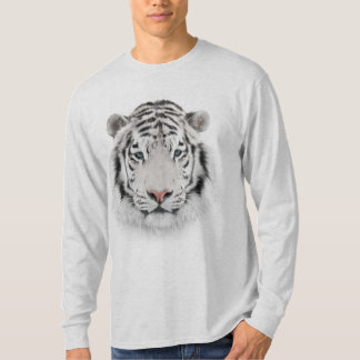White Tiger Head Long Sleeve T-Shirt