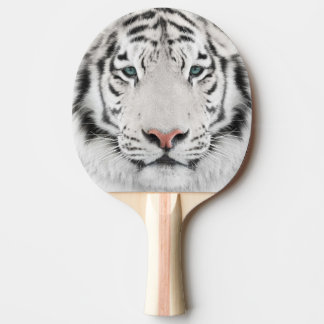White Tiger Head Ping Pong Paddle