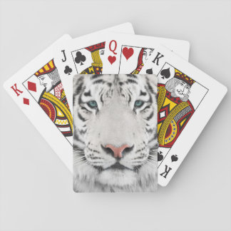 White Tiger Head Playing Cards