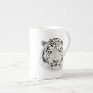 White Tiger Head Tea Cup