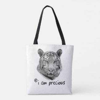 White Tiger i am precious Tote Bag
