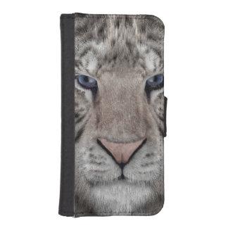 White Tiger iPhone SE/5/5s Wallet Case