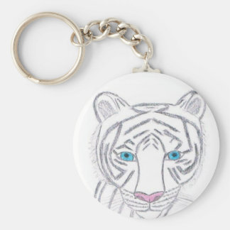 White Tiger Keychain by KellyMDesigns