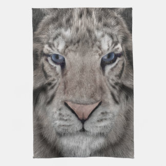 White Tiger Kitchen Towel