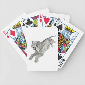 White Tiger Leaping Bicycle Playing Cards