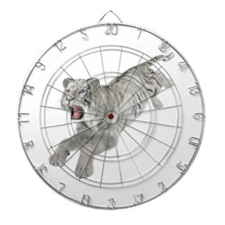 White Tiger Leaping Dartboard With Darts