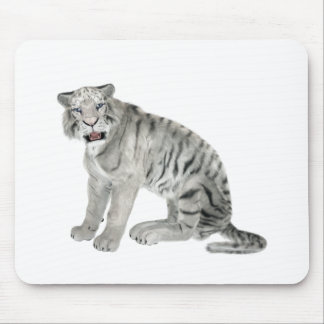 White Tiger Looking to the Front Mouse Pad
