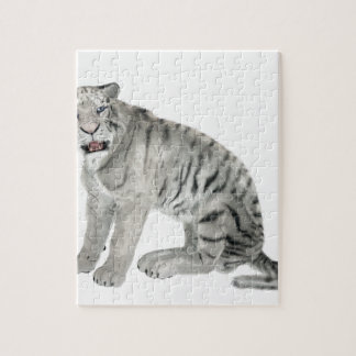 White Tiger Looking to the Front Puzzle